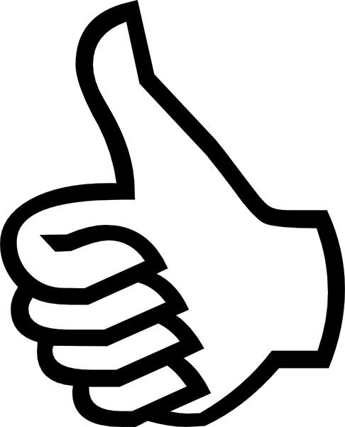 486x600 Symbol Thumbs Up Clip Art Free Vector In Open Office Drawing Svg