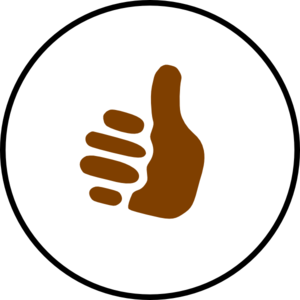 300x300 Brown Clipart Thumbs Up