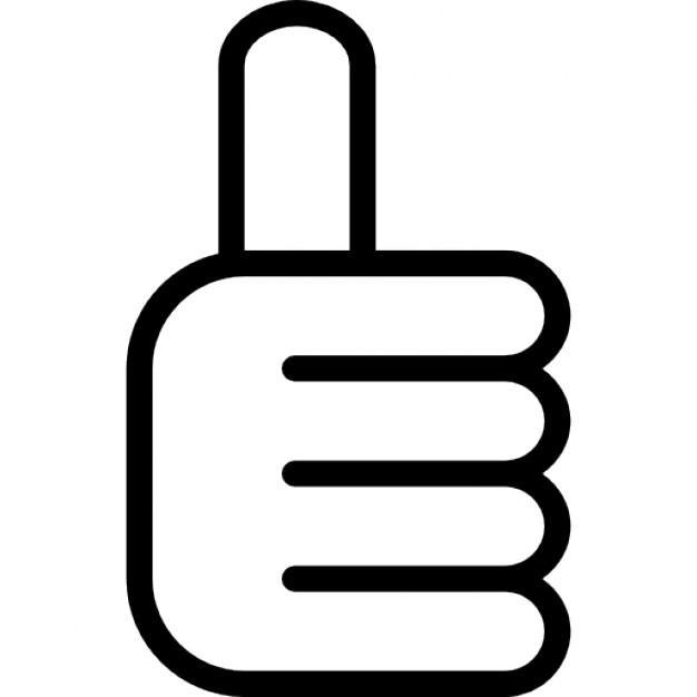 626x626 Thumb Up Hand Outline Interface Symbol Icons Free Download