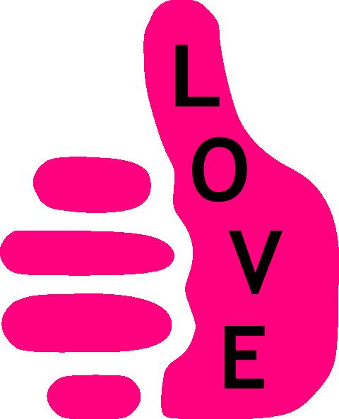 480x594 Love Thumb Clip Art