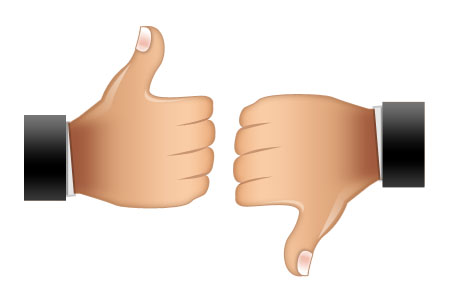 450x300 Thumbs Up Thumbs Down Clipart 2238977
