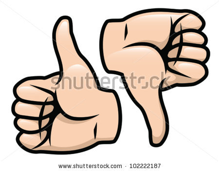 450x352 Thumbs Up And Down Clipart