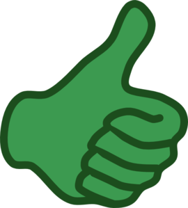 270x299 Thumbs Up Down Clipart