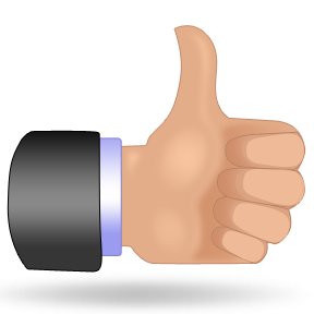 288x288 Two Thumbs Up Clip Art