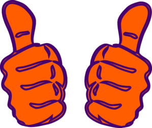 299x252 Two Thumbs Up Purple Blue Clip Art