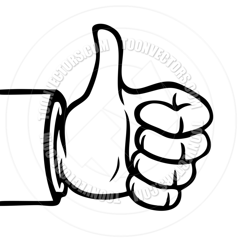 940x940 Black And White Thumbs Up By Colin Cramm Illustration Amp Animation
