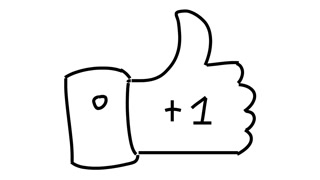 320x180 Like Thumbs Up Line Drawing Illustration Animation