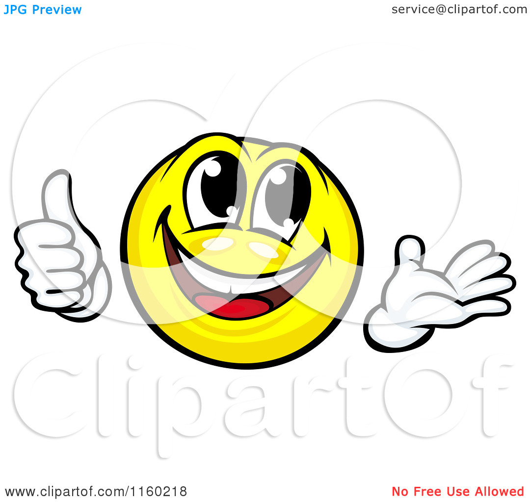 1080x1024 Smiley Face Thumbs Up Clipart