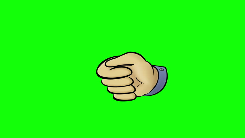 852x480 Thumbs Up Animation. White Male Hand Gives Thumbs Up At Chroma Key