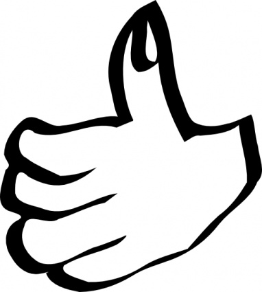 382x425 Free Clip Art Thumbs Up Clipart
