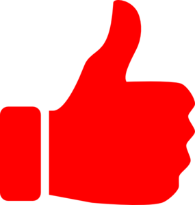 285x299 Red Thumbs Up Clip Art