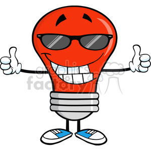 300x300 Royalty Free Royalty Free Clip Art Smiling Red Light Bulb