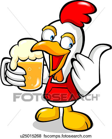 380x470 Stock Illustration Of Animal, Beer, Thumbs Up, Beer Bubble
