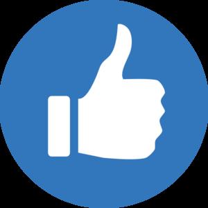 300x300 Blue Thumbs Up! Clip Art
