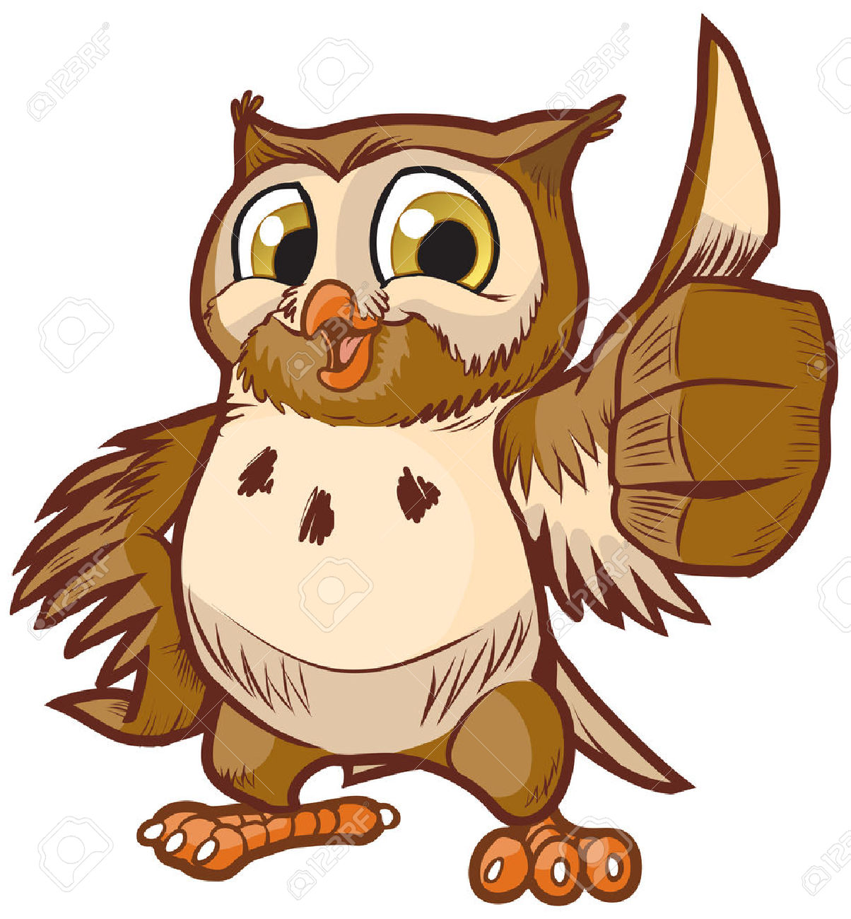 1204x1300 Vector Cartoon Clip Art Illustration Of A Cute And Happy Owl