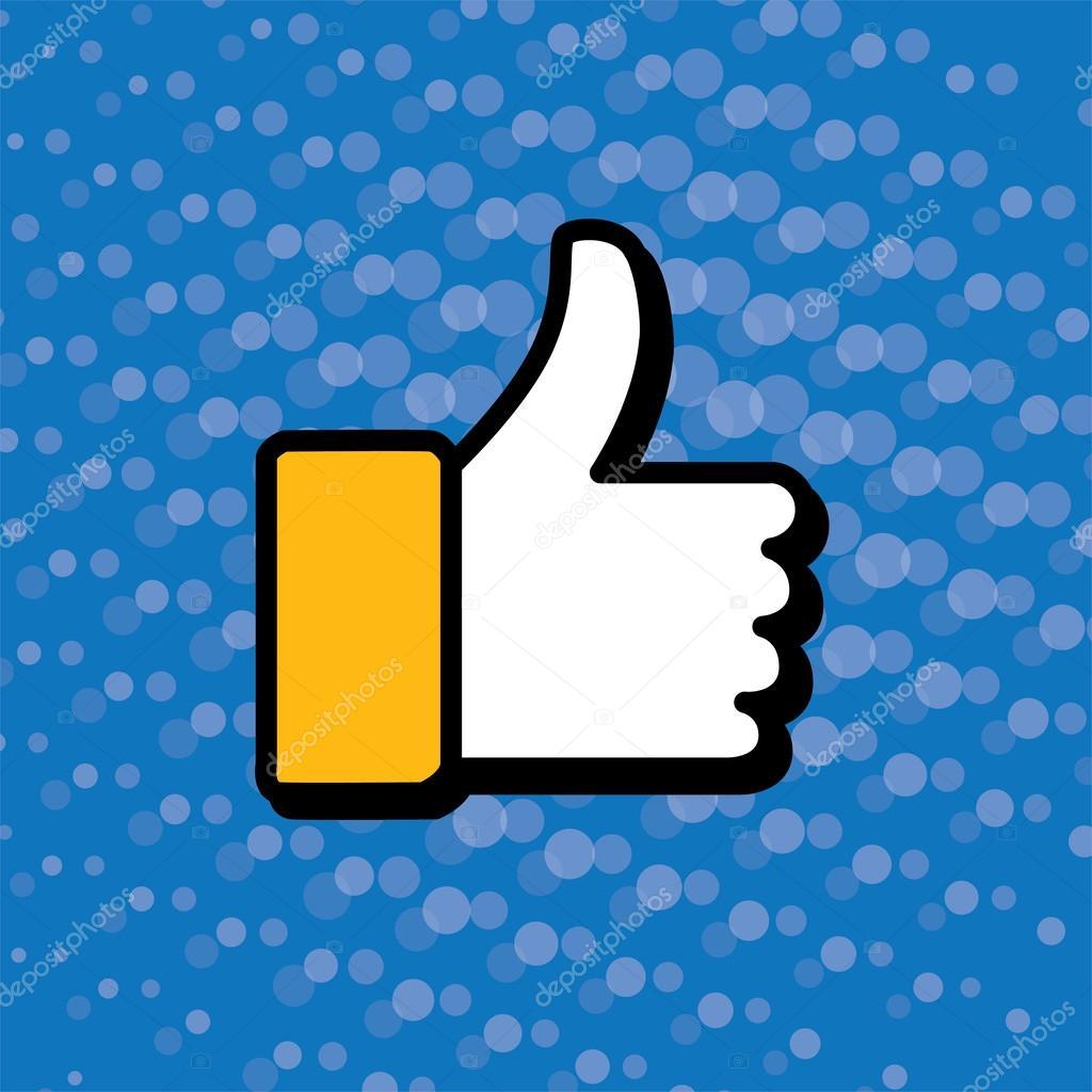 1024x1024 Pop Art Thumbs Up Amp Like Hand Symbol Used In Social Media