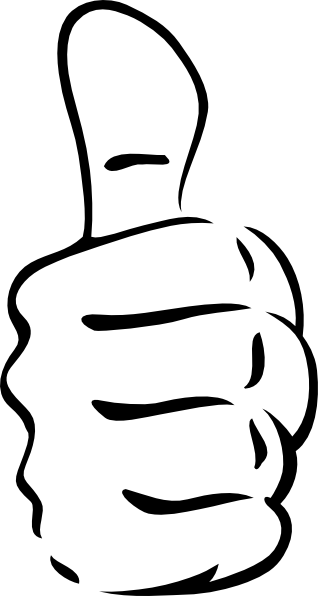 318x596 Thumb Clipart Black And White Thumbs Up Clip Art Tshirt Makers