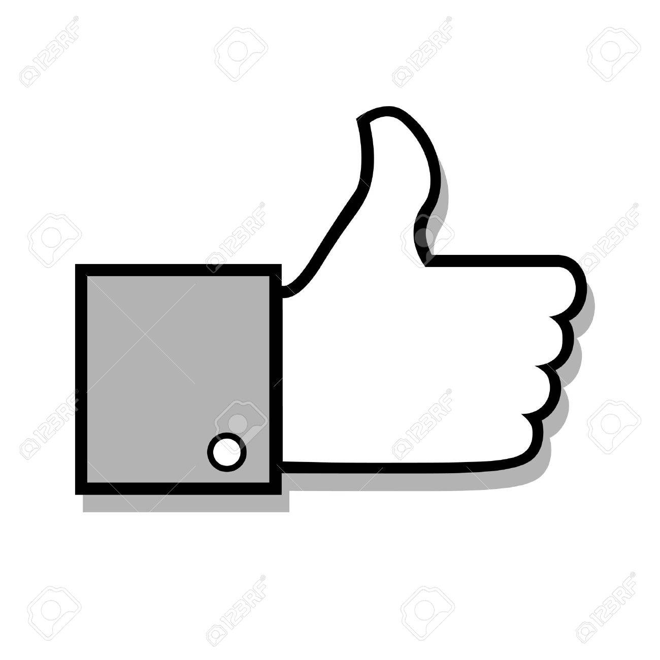 1300x1300 Images White Thumbs Up Icon Vector