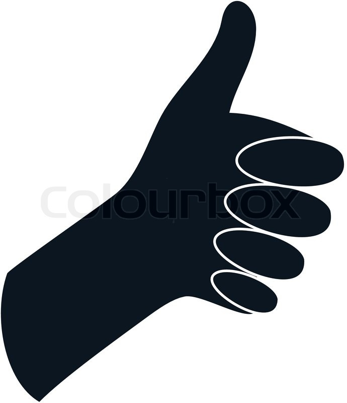690x800 A Black Thumbs Up On A White Background Stock Vector Colourbox