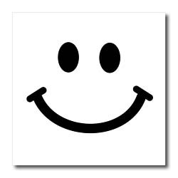 250x250 Smiley Face Black And White Collection