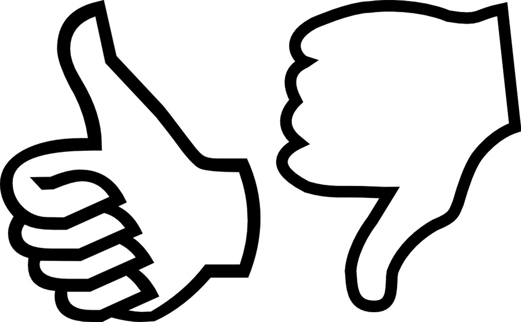 1700x1050 Thumbs Down Outline Clipart