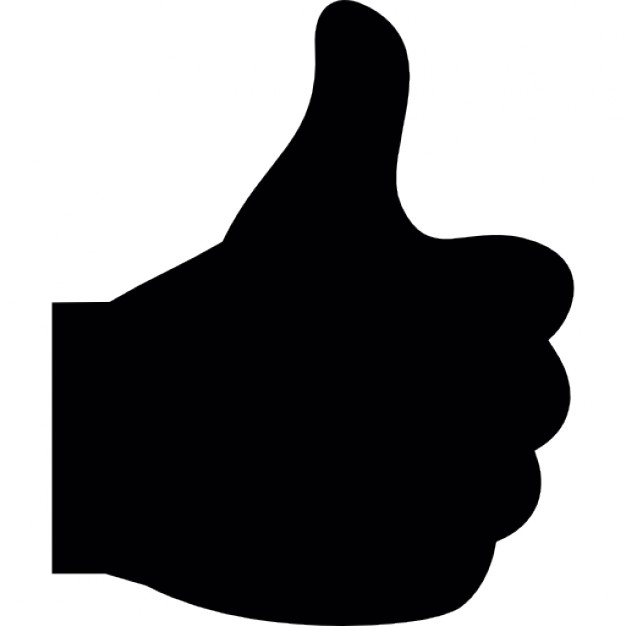626x626 Thumbs Up, Black Hand, Ios 7 Interface Symbol Icons Free Download
