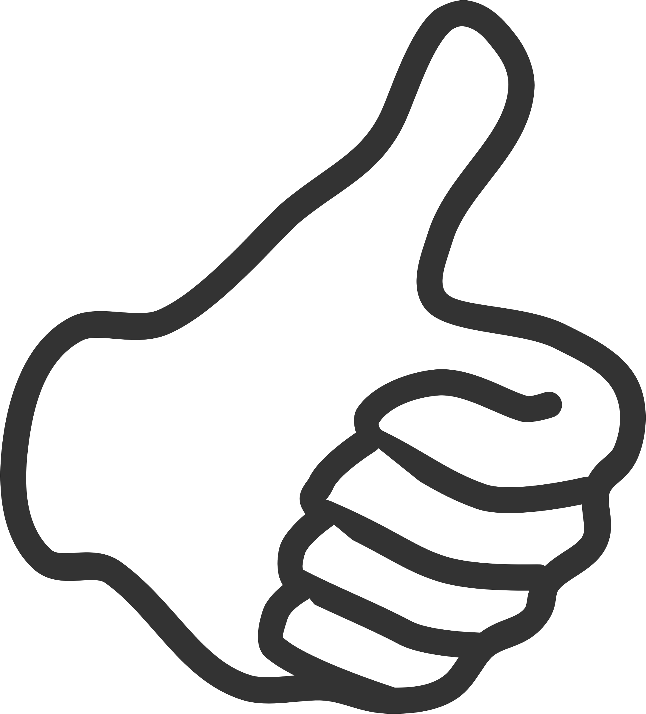 2169x2397 Thumbs Up Up Clipart