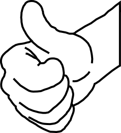 243x267 Thumbs Up Line Art