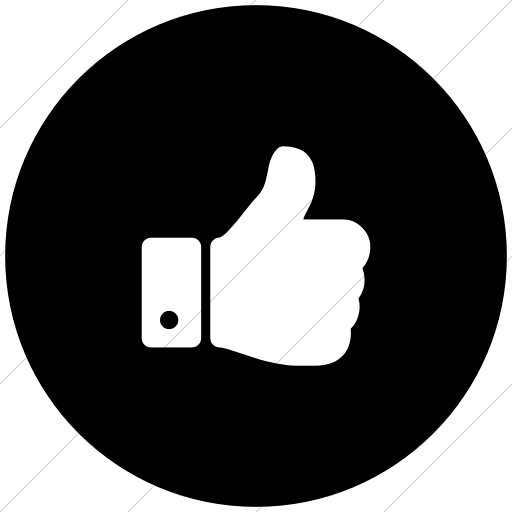 512x512 Bootstrap Font Awesome Thumbs Up Icon Style Flat Circle White