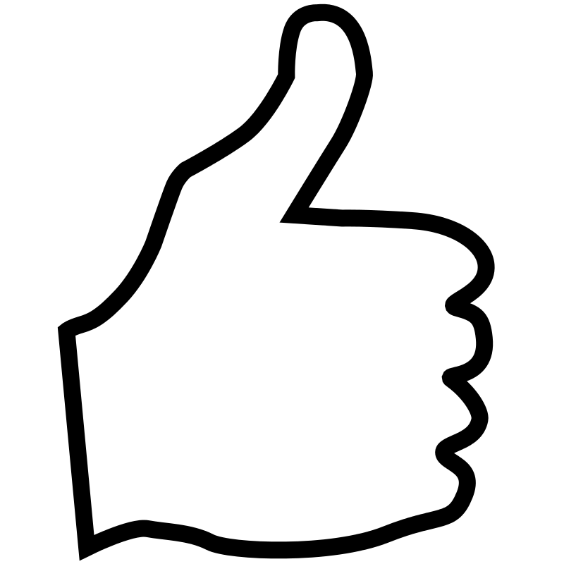 800x800 Free Thumbs Up Clipart