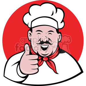 300x300 Royalty Free Chef Giving A Thumbs Up Clip Art 388375 Vector Clip