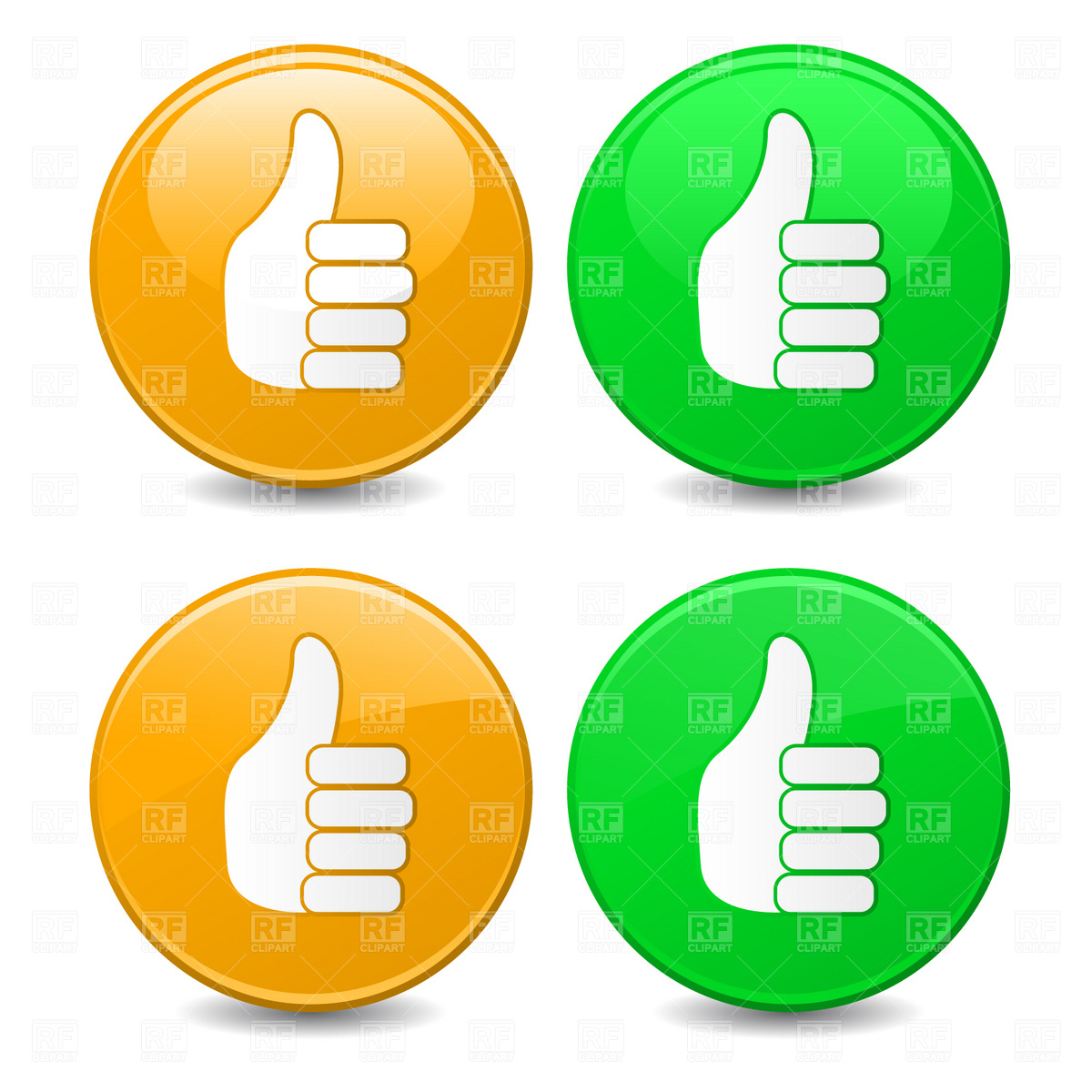 1200x1200 Thumbs Up Sign Royalty Free Vector Clip Art Image