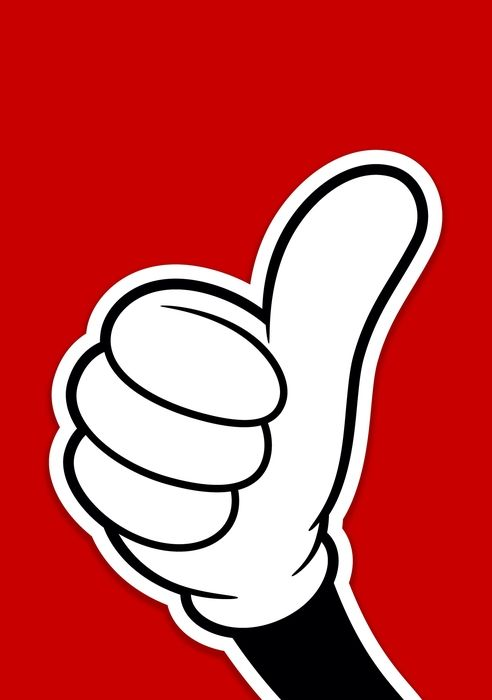 Thumbs Up Clipart Black And White