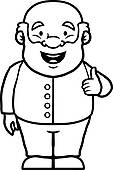 113x170 Clip Art Of Black And White Man With Thumbs Up K16210217