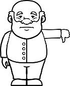 139x170 Clip Art Of Old Man Giving Thumbs Up K15580489