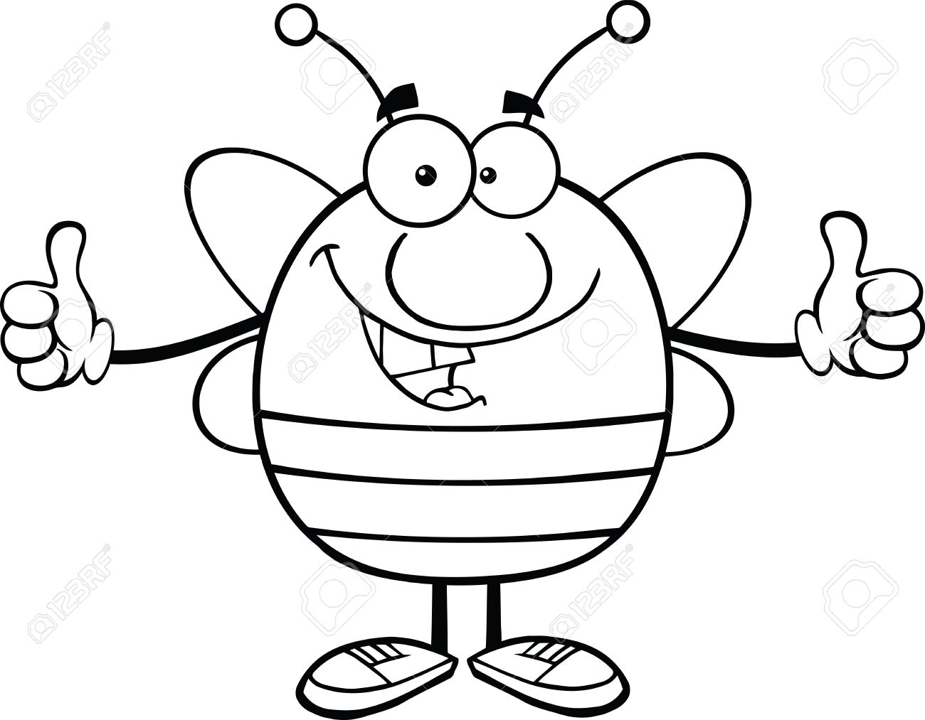 1300x1013 Bee Clipart Thumbs Up