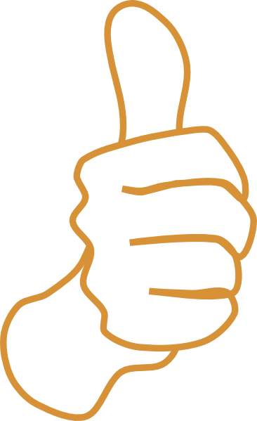 366x599 Thumbs Up White Sand Clip Art