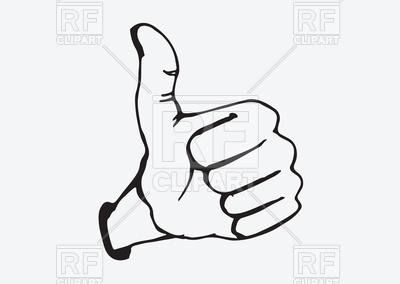 400x284 Thumbs Up Symbol Hand Drawn Style Royalty Free Vector Clip Art