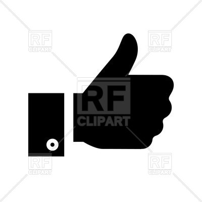 400x400 Thumbs Up Icon Royalty Free Vector Clip Art Image