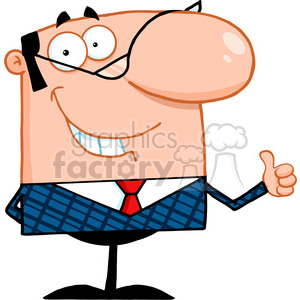 300x300 Royalty Free Royalty Free Smiling Business Manager Showing Thumbs