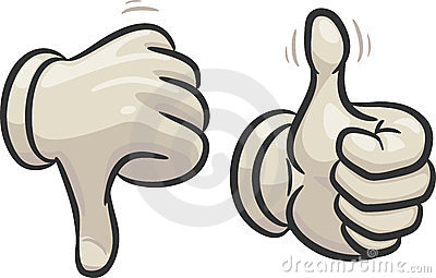 400x255 Clipart Of Thumbs Up And Thumbs Down