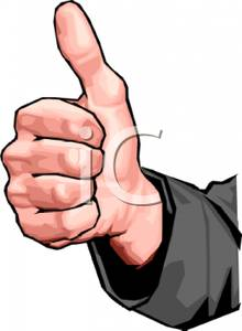 220x300 Hand Gesture Clipart Thumbs Up