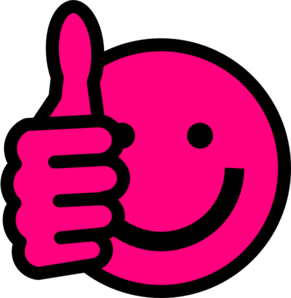291x298 Hot Pink Thumbs Up Clip Art