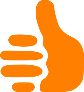 273x299 Orange Thumbs Up Clip Art