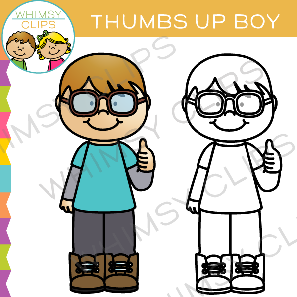600x600 Thumbs Up Boy Clip Art , Images Amp Illustrations Whimsy Clips