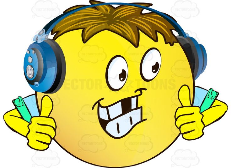 736x537 Headphone Clipart Happy Face