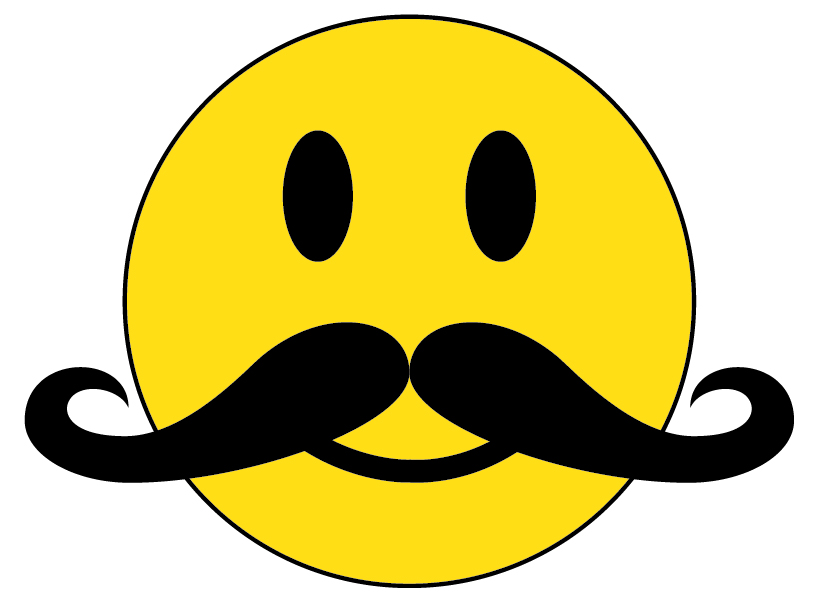 819x603 Smiley Face With Mustache And Thumbs Up Collection