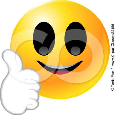 470x473 Smiley Clipart Proud Face