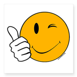 250x250 Happy Face Thumbs Up Clip Art