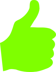 231x297 Thumbs Up Clip Art